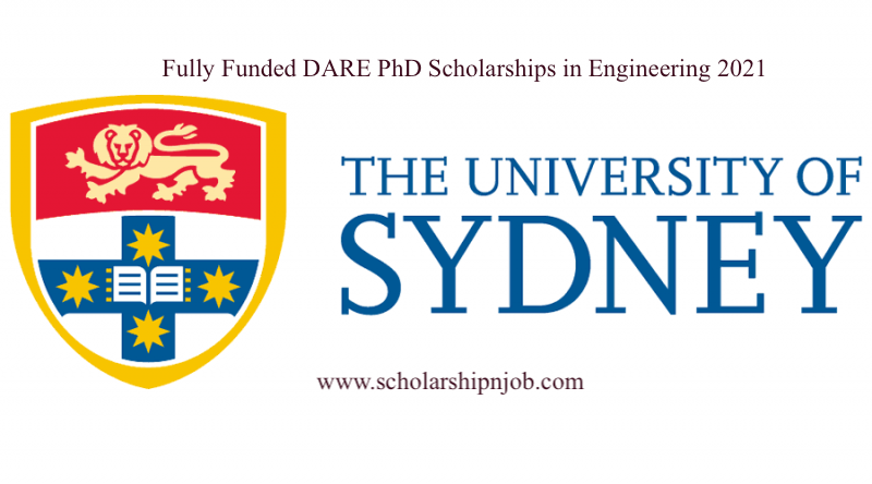 Fully Funded DARE PhD Scholarships in Engineering - University of Sydney, Australia