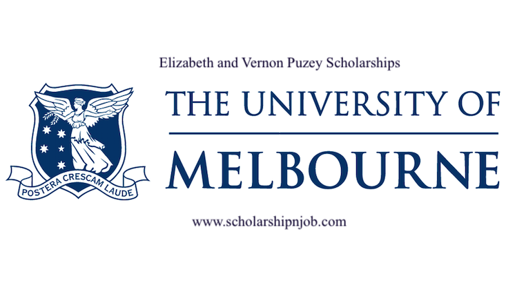 Fully Funded Elizabeth and Vernon Puzey Scholarships - University of Melbourne, Australia