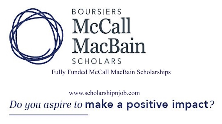 Fully Funded McCall MacBain Scholarships - McGill University, Canada