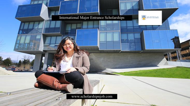 Fully Funded International Major Entrance Scholarships - University of British Columbia, Canada