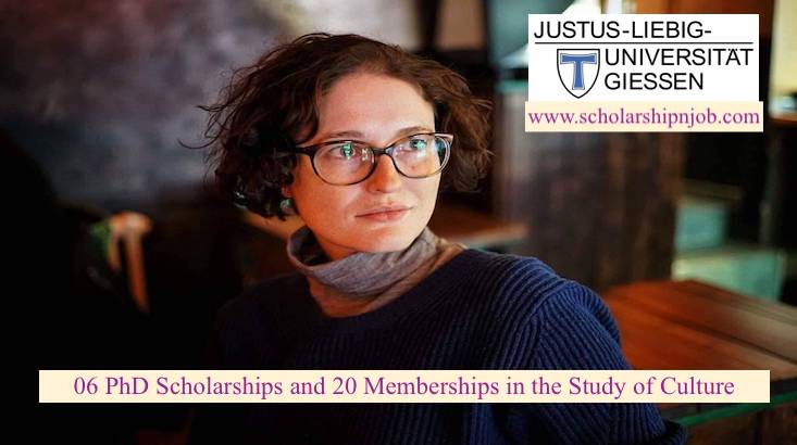 Fully Funded PhD Scholarships and Memberships in the Study of Culture - Giessen University, Germany