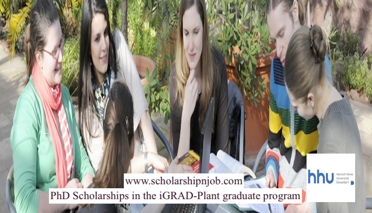 Fully Funded DAAD PhD Scholarships iGRAD-Plant Graduate Program - Heinrich Heine University Düsseldorf, Germany
